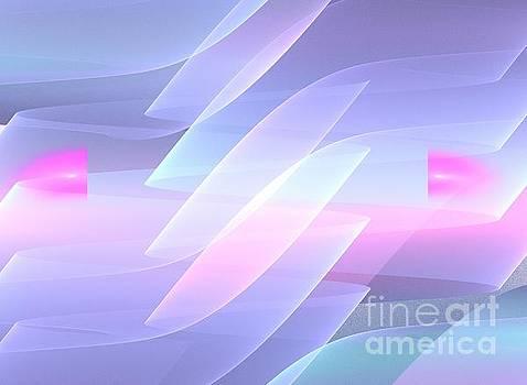 Lilac Pink Waves by Kim Sy Ok