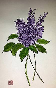Lilac posy by Margaret Welsh Willowsilk