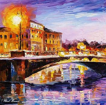 Lilac Shadow - PALETTE KNIFE Oil Painting On Canvas By Leonid Afremov by Leonid Afremov