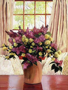 Lilac Vase by David Lloyd Glover