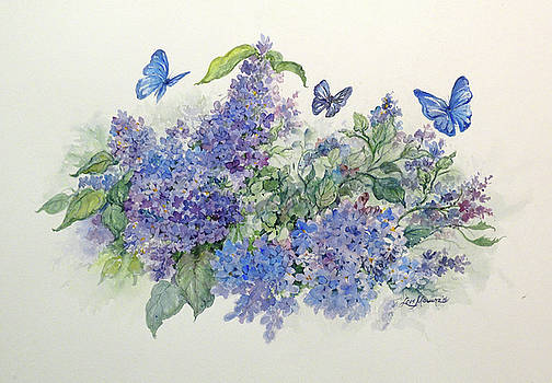 Lilacs and Butterflies by Lois Mountz