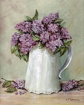 Lilacs in a White Jug by Gail McCormack