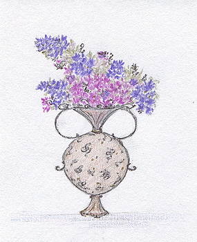 Lilacs in an Urn by Christine Corretti