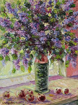 Lilacs with Apples by Liudvikas Daugirdas