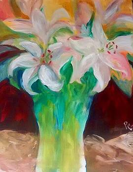 Lilies in a Vase 2 by Patricia Taylor