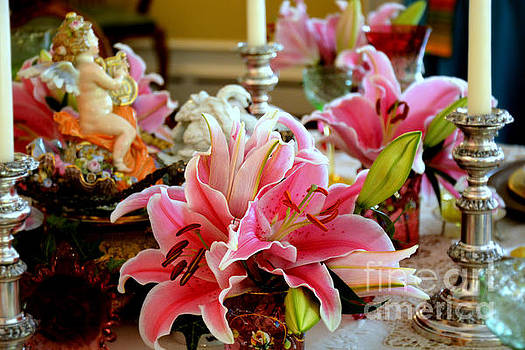 Lilies on a Dining Table by Tanya Searcy