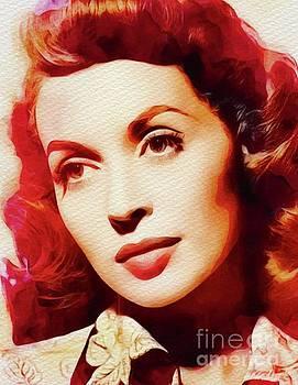 John Springfield - Lilli Palmer, Vintage Movie Star