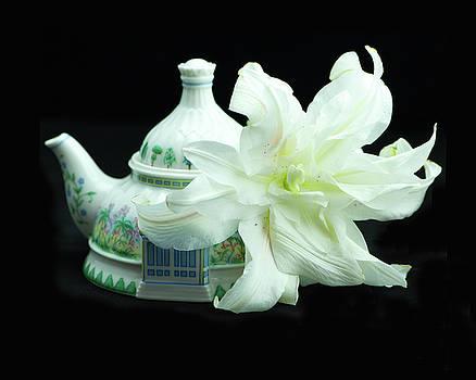 Lily and Teapot by Nancy Kirkpatrick