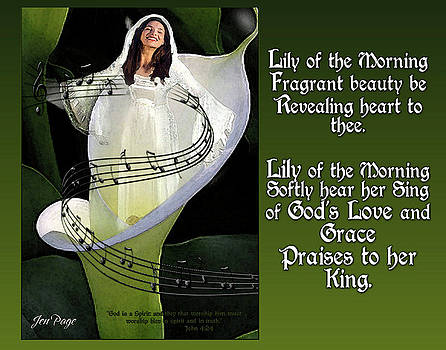 Jennifer Page - Lily of The Morning Poem
