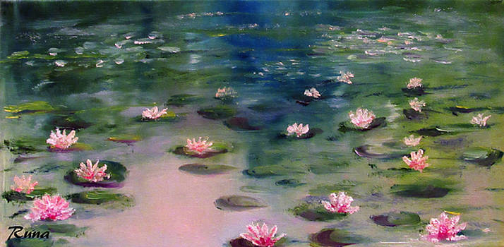 Lily Pond at Hilltop Arboretum by Runa Bakshi