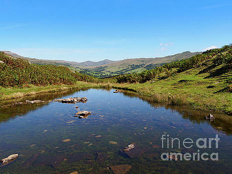 Lily Tarn on Loughrigg Fell Lake District by Louise Heusinkveld