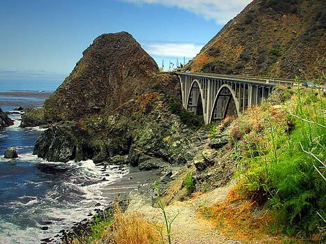 Joyce Dickens - Lime Creek Bridge Highway 1 Big Sur CA