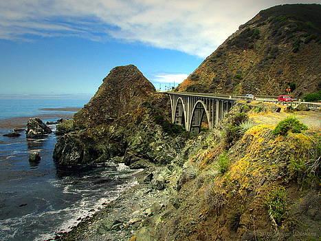 Joyce Dickens - Lime Creek Bridge Highway 1 Big Sur CA Three