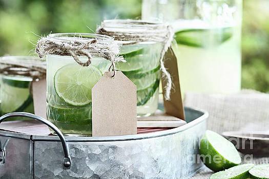 Limeade in Mason Jars by Stephanie Frey