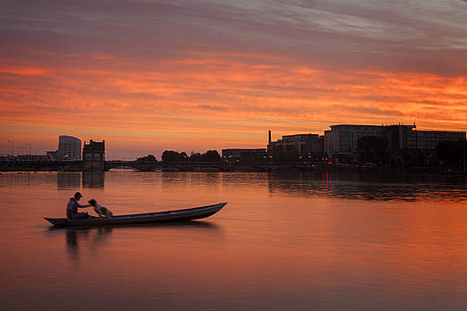 Dominick Moloney - Limerick boatman with dog
