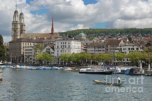 Limmat River in Zurich Switzerland by Louise Heusinkveld