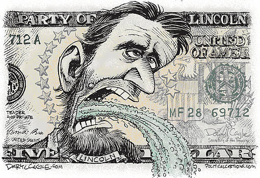 Lincoln Barfs by Daryl Cagle