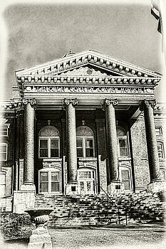 Sharon Popek - Lincoln County Courthouse Sepia
