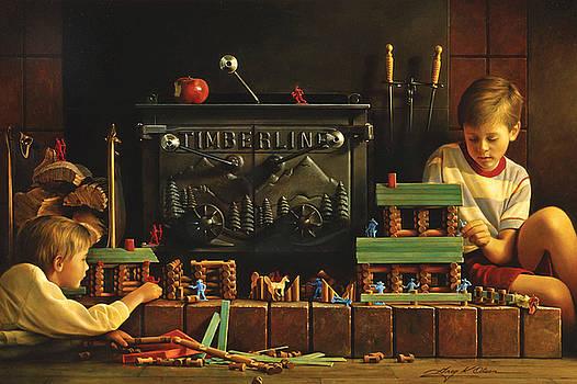 Lincoln Logs by Greg Olsen