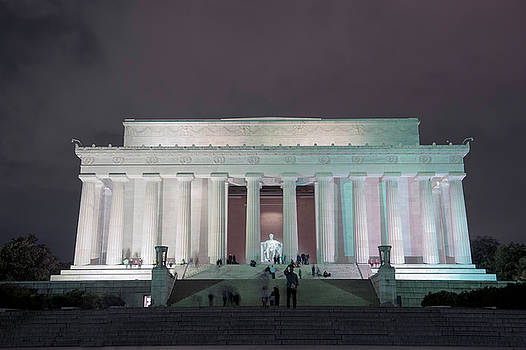 Lincoln Memorial at Night by Cathie Crow