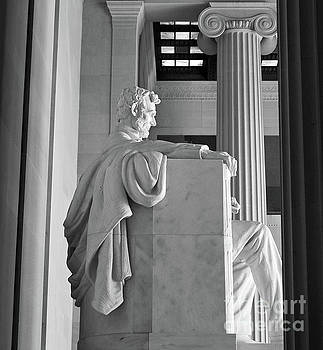 Lincoln Memorial Interior Washington DC by Kimberly Blom-Roemer