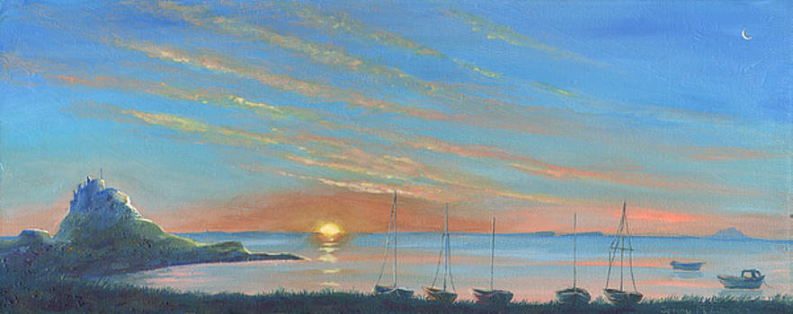 Lindisfarne Castle Sunrise by Jenny McLaughlin