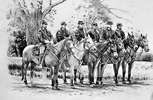 Line of Cavalry Troops by William Hay