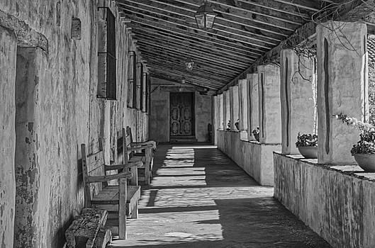 Tony Crehan - Lines and shadows at Carmel Mission