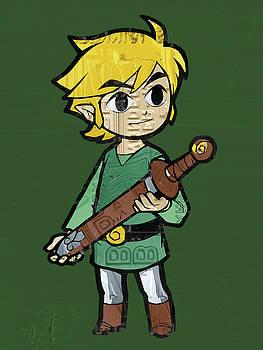 Design Turnpike - Link Legend of Zelda Nintendo Retro Video Game Character Recycled Vintage License Plate Art Portrait
