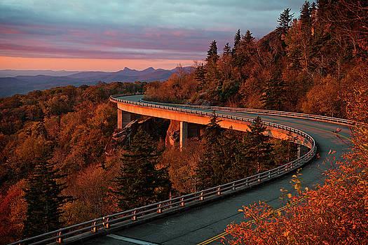 Linn Cove Viaduct Sunrise by Matt Plyler