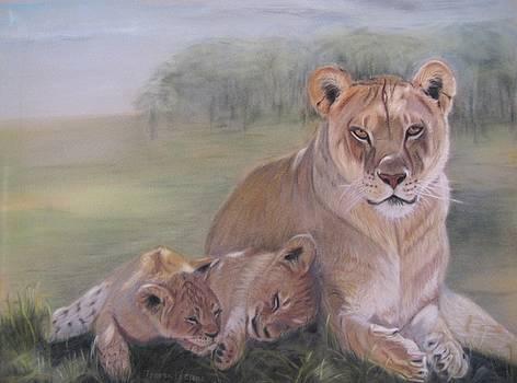 Lion Family by Teresa LeClerc