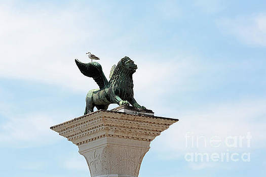 Lion of Venice above the Piazza San Marco Italy by Louise Heusinkveld