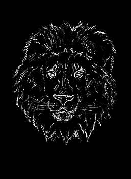 Lion on Black Background by Masha Batkova