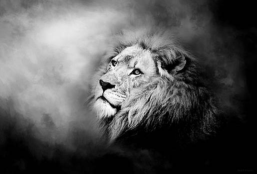 Lion - Pride Of Africa II - Tribute To Cecil in Black and White by Michelle Wrighton