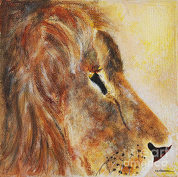 Lion profile by Monica Carrell