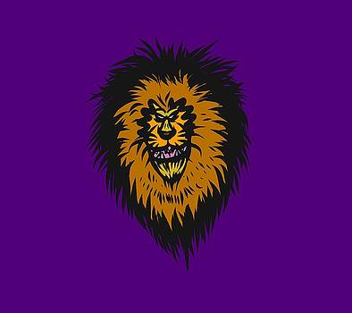 Lion Roar Purple by Robert Watson