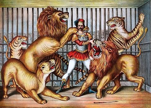Lion tamer, 1873 by Vintage Printery
