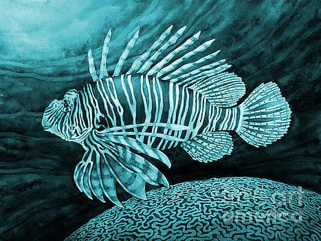 Hailey E Herrera - Lionfish on Blue