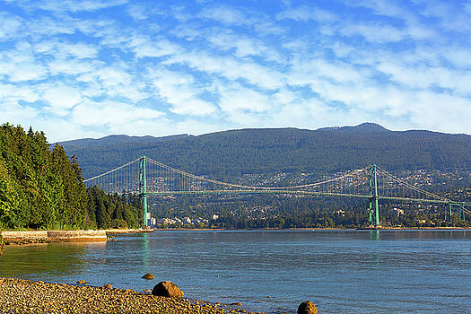 Lions Gate Bridge by Stanley Park by David Gn