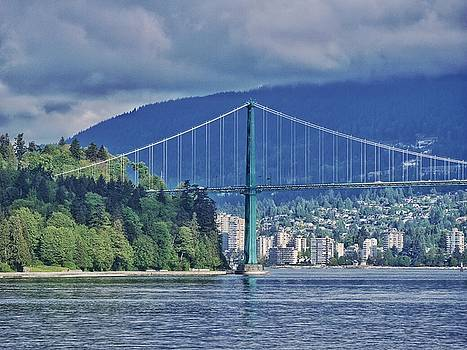 Lions Gate Bridge in Vancouver, Canada Number 2 by Steffani Cameron