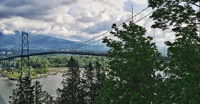 Lions Gate Bridge in Vancouver, Canada by Steffani Cameron