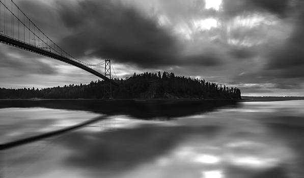 Lions Gate Bridge by Wesley Allen Shaw