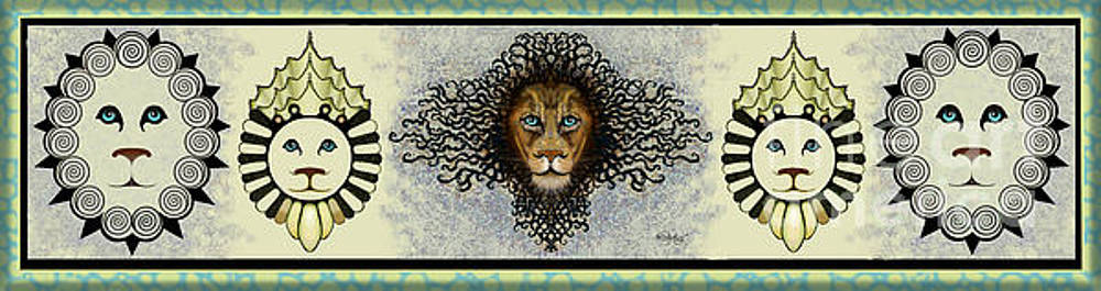 Carol Jacobs - Lions in a Row - Light