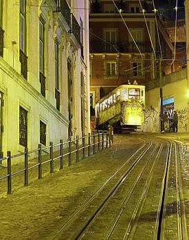 Lisbon Cable Car by Carl Sheffer