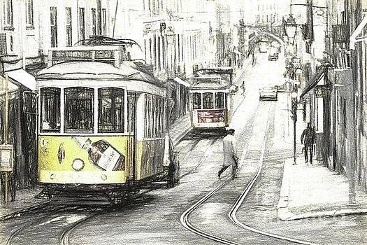 Lisbon Trams Sketch by Howard Ferrier