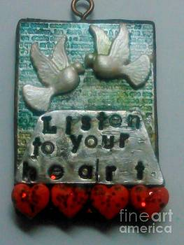 Listen to your heart pendant 1 by M Brandl