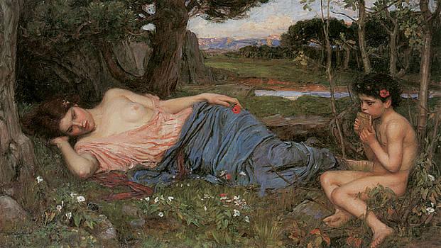 John William Waterhouse - Listening to my Sweet Pipings