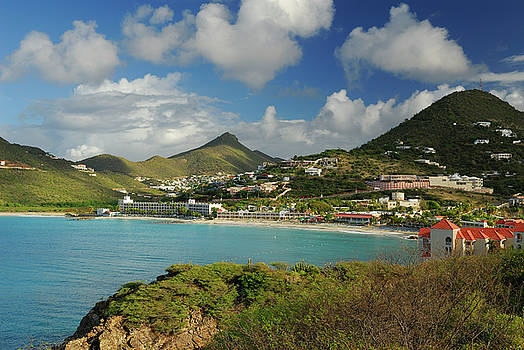 Reimar Gaertner - Little Bay and Fort William in the Caribbean Island of St Maarten