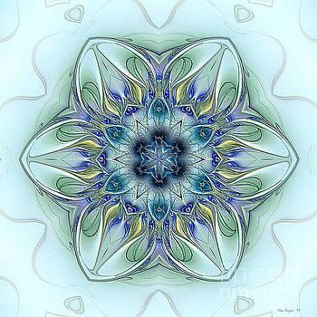Little Blue Flower Mandala by Nan Engen
