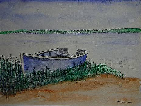 Little Blue Skiff by Ron Sylvia